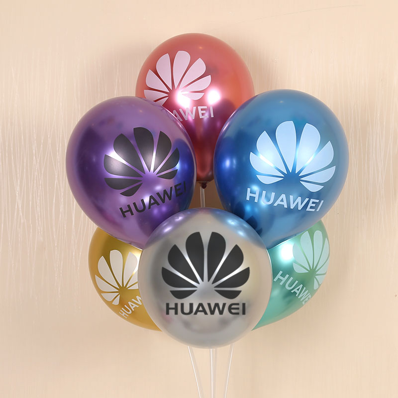 Balão metálico feito sob encomenda balão 100 pces impressão personalizada balão letras texto próprio logotipo impressão publicidade balões personalizados