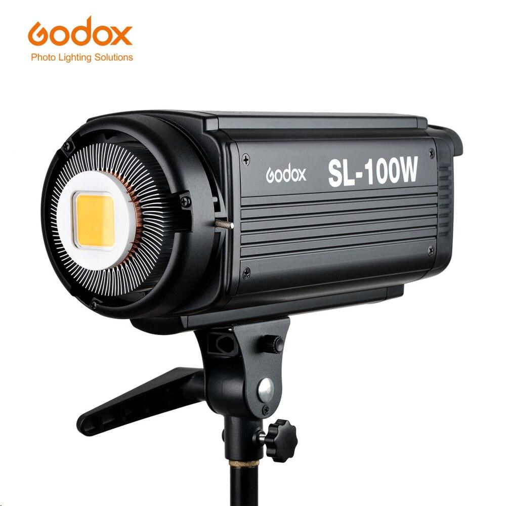 Godox sl100w/y lâmpadas de sol led fotografia lâmpadas luzes vídeo estúdio cena real galpão iluminação fotográfica refletor brilho