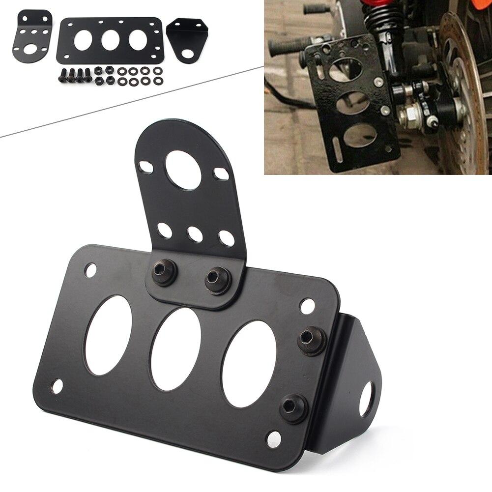 Motrocycle кронштейн для номерного знака рама Боковое крепление для мотоцикла для Harley Choppers Bobber Cruiser/метрический велосипедный станок с ЧПУ алюмин...