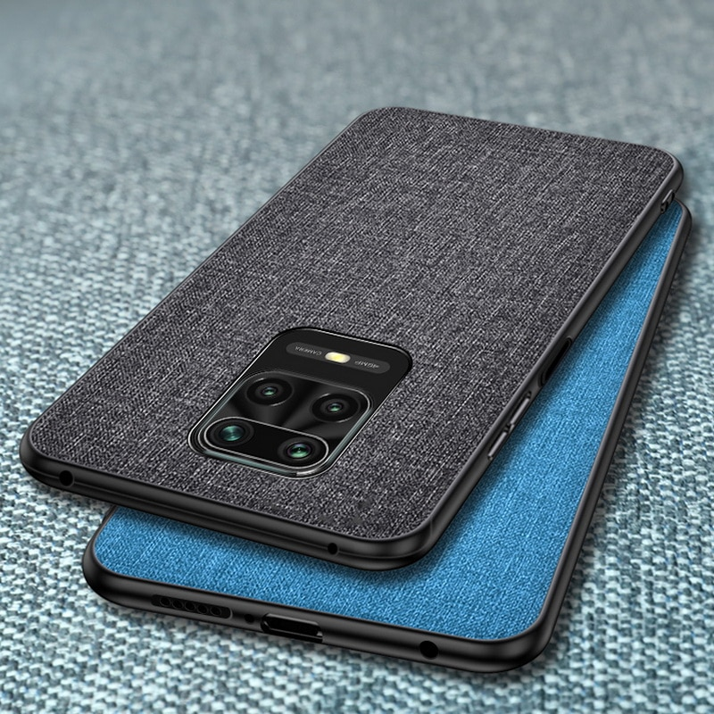 Case For Xiaomi Mi 9T 10T Pro Note 10 Lite Poco X3 NFC M3 Slim Fabric Skin Back Cover For Redmi Note