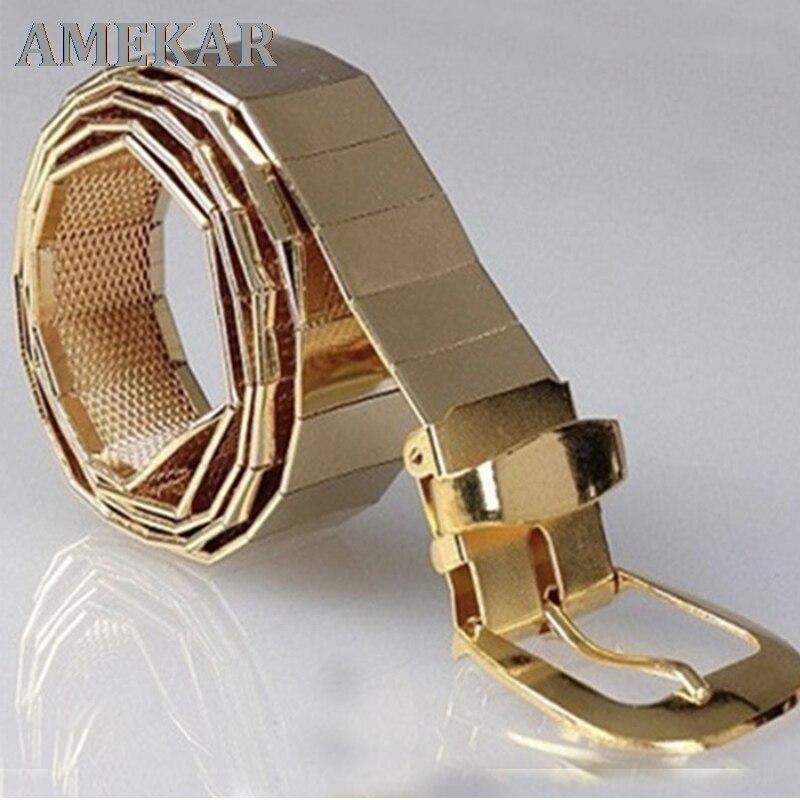 fashion silver gold chain belt for jeans metal ladies belts for women man ketting riem designer High