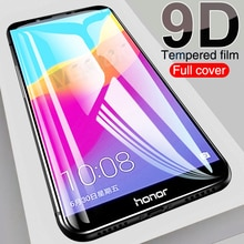 9D Full Cover Protective Glass For Huawei Honor 7A 7C 7S 7X Tempered Glass For honor 8 9 Lite V9 Pla