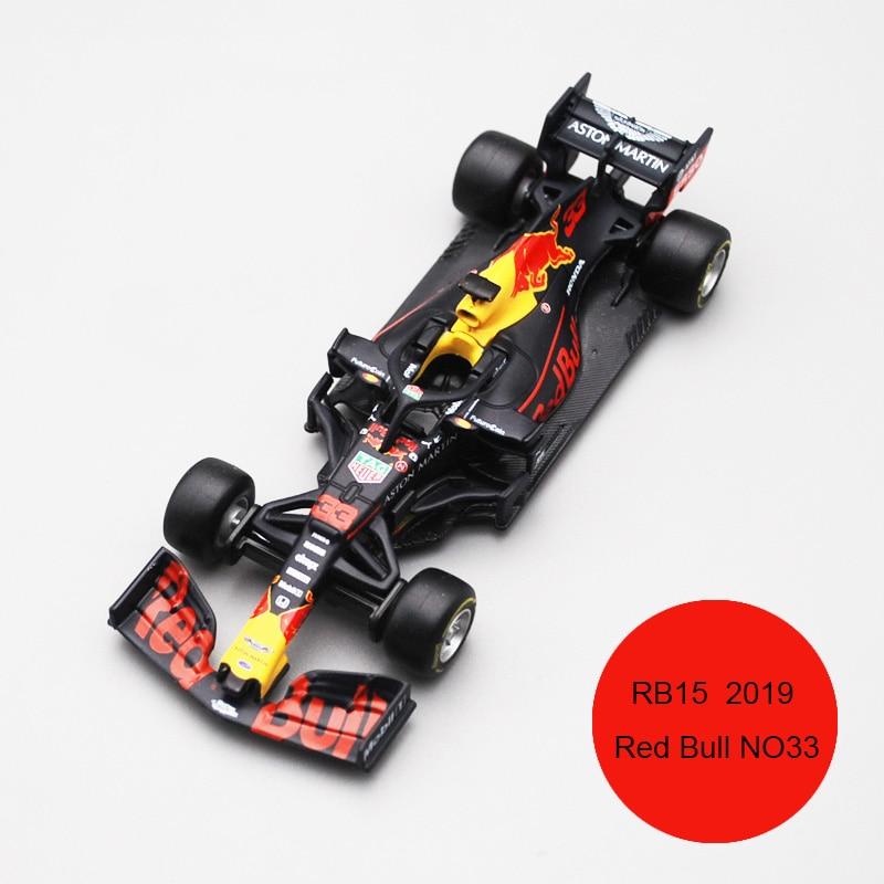 Bburago 1/43 1:43 весы 2019 RB15 Redbull Red Bull No33 33 F1 Formula 1 гоночный автомобиль литой под давлением дисплей пластиковая модель детская игрушка