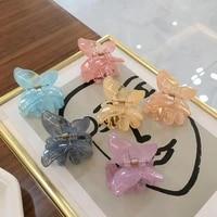 butterfly hair clip super fairy geometric acrylic acetate hairpins girls women hair claws banana clip hair accessories barrettes