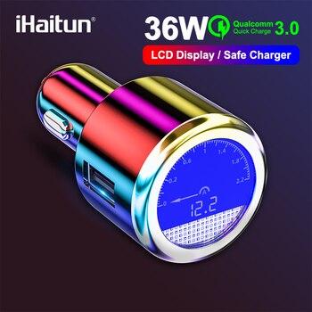IHaitun Элитный ЖКД 36 Вт USB Автомобильное зарядное устройство для samsung Быстрая зарядка 3,0 QC QC3.0 Быстрый USB для iPhone Xiaomi Redmi K20 Note 7 QC4.0 QC 4.0 Huawei P30 Pro One Plus 7 Pro Mi 8 9 XS MAX X S9 S10