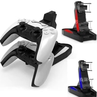 for playstation 5 ps5 game controller dual port charging dock stand station led indicator charger storage base fast charging