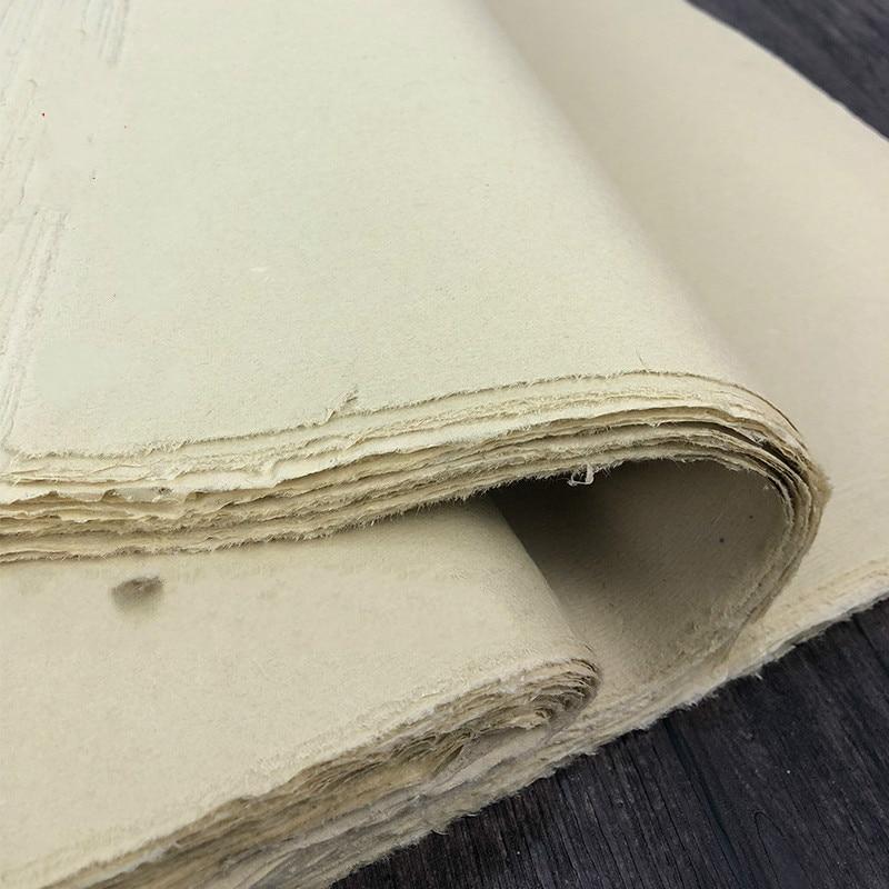 Китайская бумага Xuan без острых краев, античная бумага ручной работы, Бамбуковая целлюлоза, бумага для каллиграфии, бумага для рисования пол...