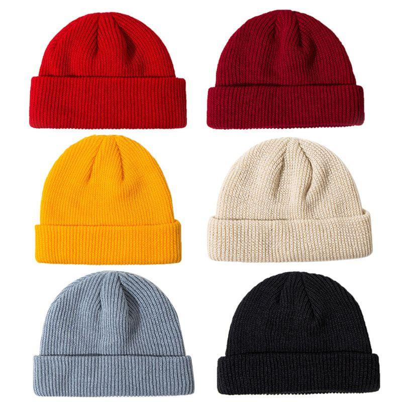 NUZADA sombreros sin ala Hip Hop para hombres mujeres Skullies Beanies Hat Knitt Hat Sailor Caps hombre sombrero caliente sombreros señora moda melón Cap