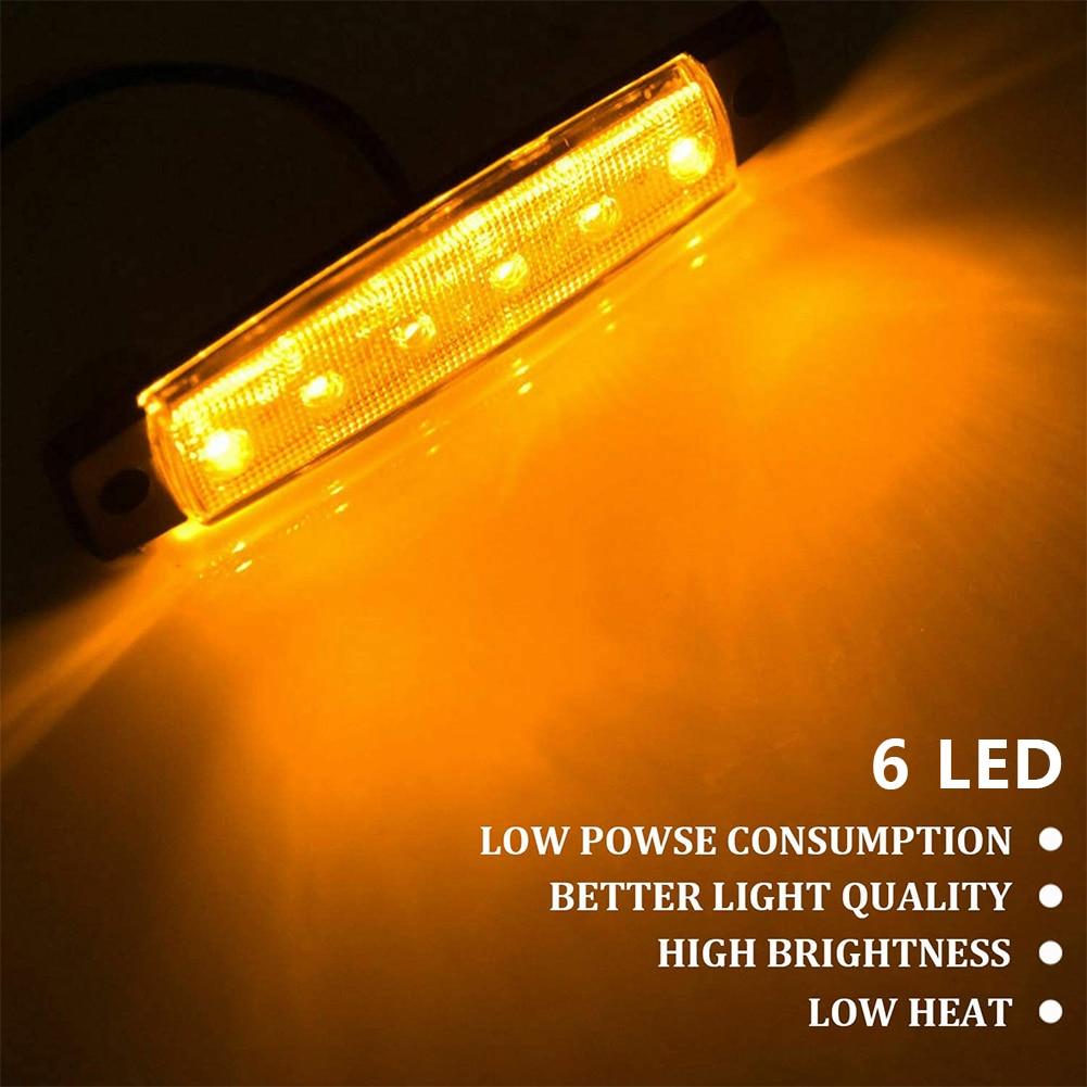 10PCS Boat Interior Car Interior Led Light Bar White Light Tube With Switch For Van Lorry Truck For Camper Boat Truck Ligh