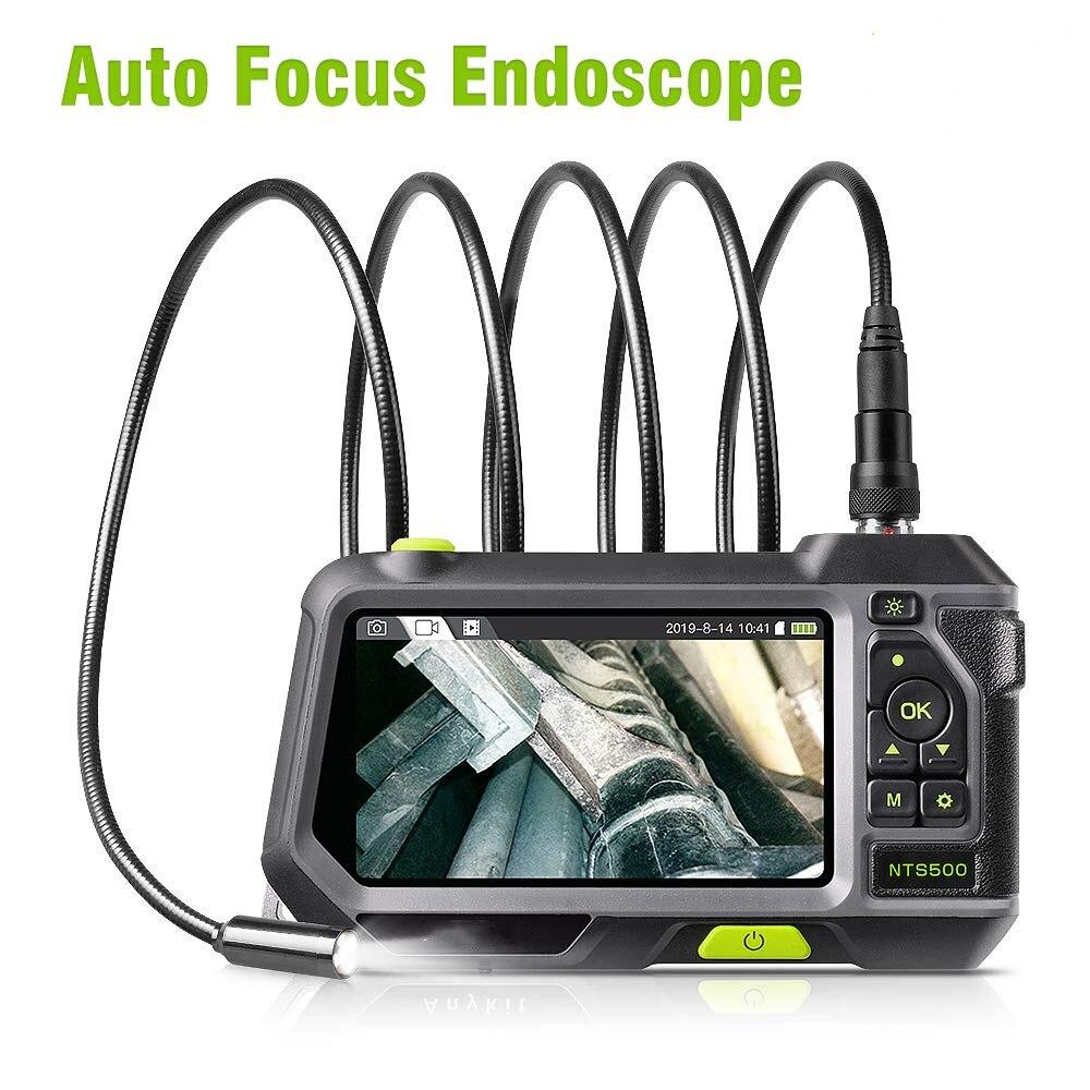 Endoscopio Industrial Auto focus inspección Cámara boroscopio videoscopio impermeable Snake Cam con 5 pulgadas 1280x720 HD IPS pantalla