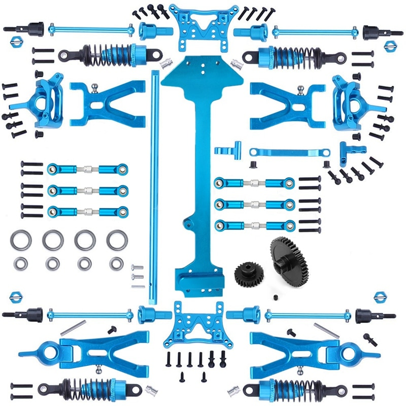 1 Set Complete Upgrade Parts Kit for WLtoys A959 A959-B A969-B A979-B K929-B 1/18 RC Car Replacement Accessories
