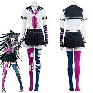 Super Dangan Rondo 2 Ibuki Mioda Cosplay Costumes School Uniform Dress Yuibu Miota Suit For Girls Women