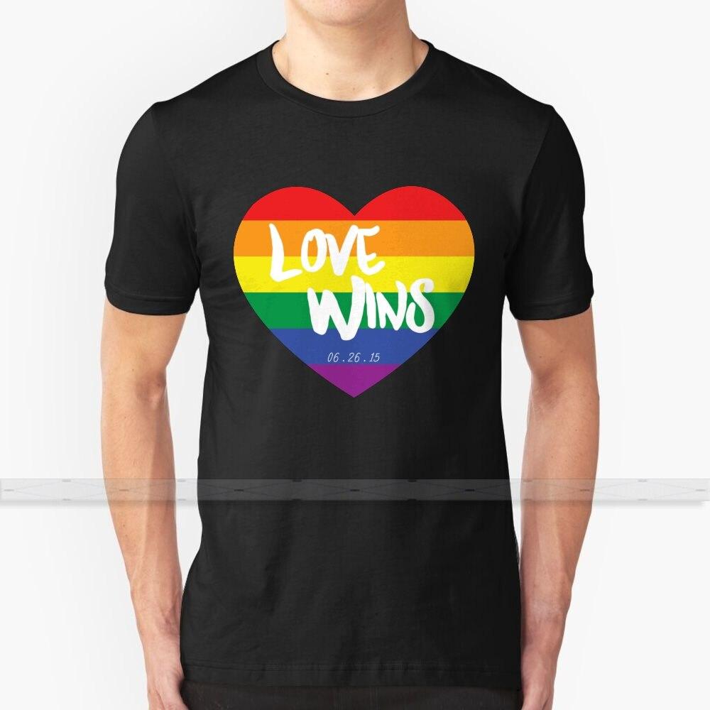 O amor ganha camiseta masculina impressão 3d verão topo em torno do pescoço camisas femininas amor ganha casamento igualdade gay casamento mesmo sexo casamento