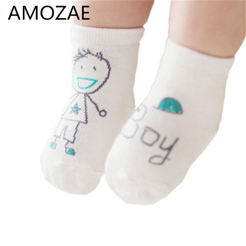 Recién Llegados, calcetines de algodón para bebés recién nacidos, bonitos Calcetines antideslizantes asimétricos para niños y niñas, para 1-2 años, Otoño Invierno, divertidos calcetines