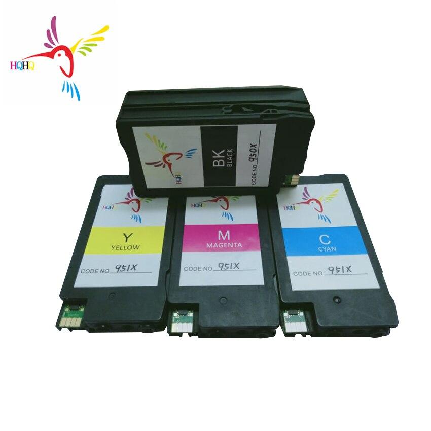 4 unids/set 950xl 951XL cartucho de tinta Compatible para HP Officejet Pro 8610/8620/8630/8640/8660/8615/8625/251DW/276DW impresora
