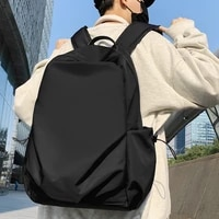 new waterproof nylon women backpack large capacity solid color men travel bag unisex college for schoolbag laptop backpacks