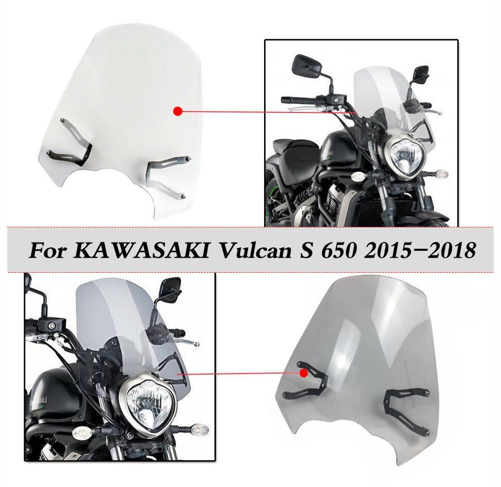 Vulcan S 650 cam için 2015 2016 2017 2018 Kawasaki VN650 S cam sineklik rüzgar deflektör motosiklet aksesuarları