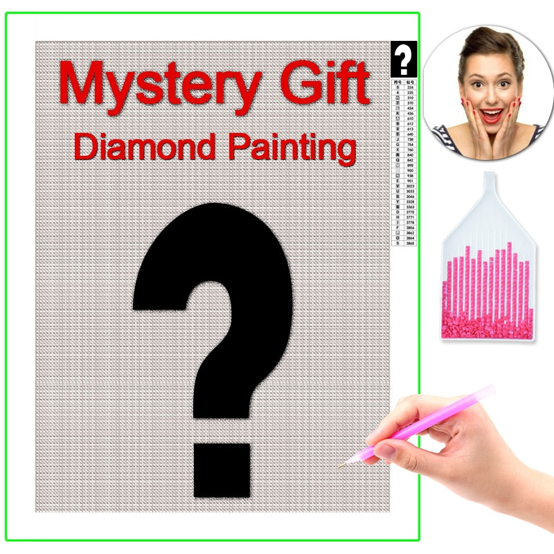 HOMFUN Photo Custom Mystery Diamond Painting 5D DIY Mysterious Picture of Rhinestones Diamond Embroidery 3D Cross Stitch Gift