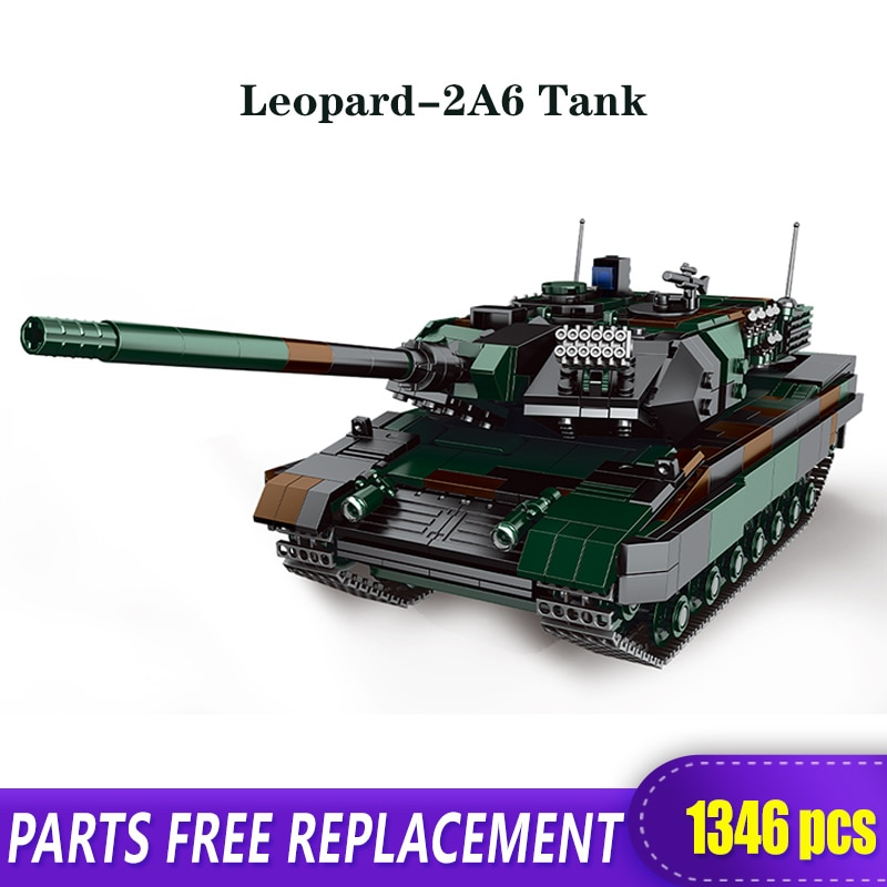 New XINGBAO 06040 The Germay Leopard-2A6 Main Battle Tank Military Model Building Blocks Bricks Children Toys Birthday Gifts xingbao technic new military series 06033 the uk challenger2 main battle tank model blocks bricks toys figure christmas gifts