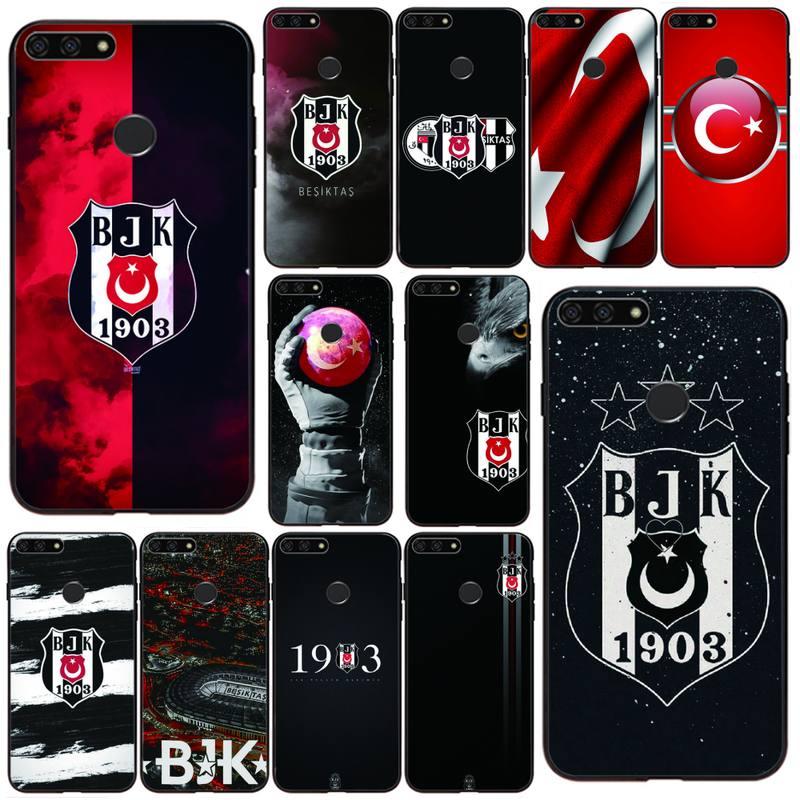 Turquia besiktas bjk telefone estojo para huawei honor 7a/8x/9/9lite/10/10lite 9x 20s view30/30pro casos