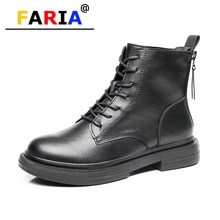 Back double zip 2020 fashion autumn/winter warm genuing leather boots for women falt height increasi