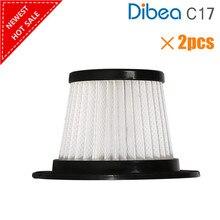 2 pçs substituição filtro hepa para dibea c17 t6 t1 sem fio vara aspirador de pó
