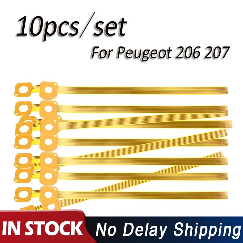 10 unids/set COMM2000 Car Flex/Cable de cinta interruptor de señal de giro columna de dirección dorada para Peugeot 206 207/Citroen COM2000