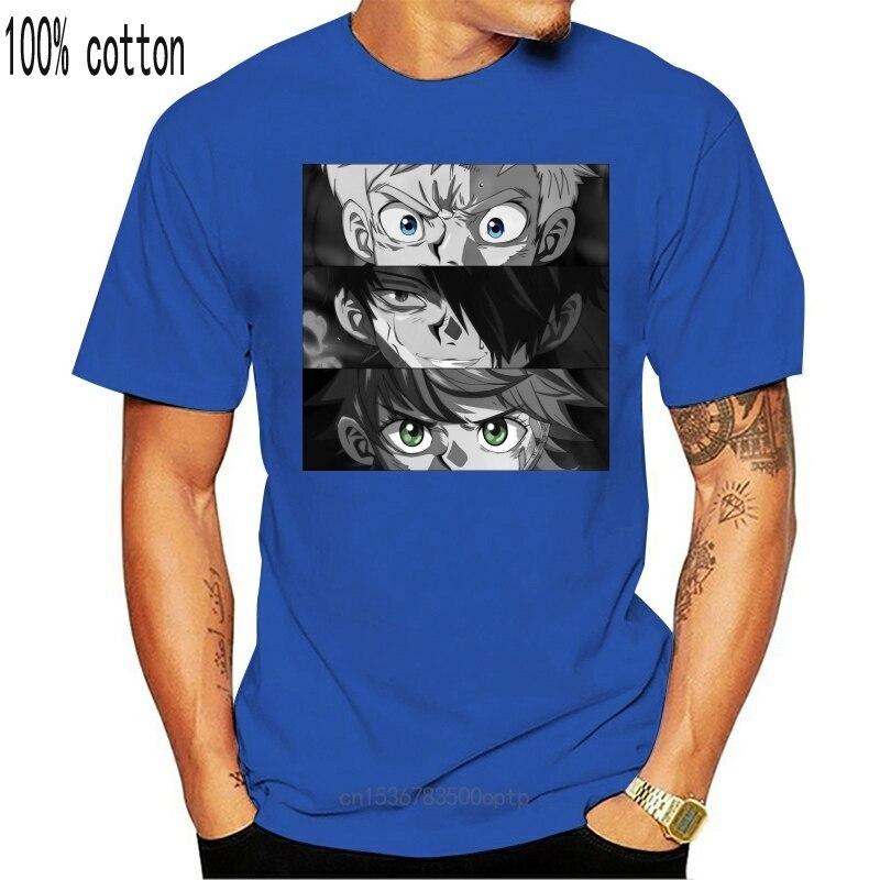 New The Promised Neverland Emma Norman Ray Eyes Black T-Shirt Size S-3Xl Harajuku Tee Shirt