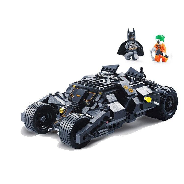 325pcs באטמן מירוץ משאית רכב קלאסי אבני בניין תואם עם Lepining באטמן DIY צעצוע סט