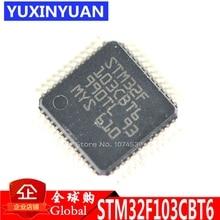 10 pcs/lot STM32F103CBT6 STM32F103 32F103 IC MCU 32BIT 128KB FLASH 48LQFP