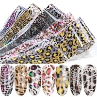 1 roll leopard print nail leaf transfer slider sticker starry animal adhesive nail envelope decal 3d decoration tips manicure