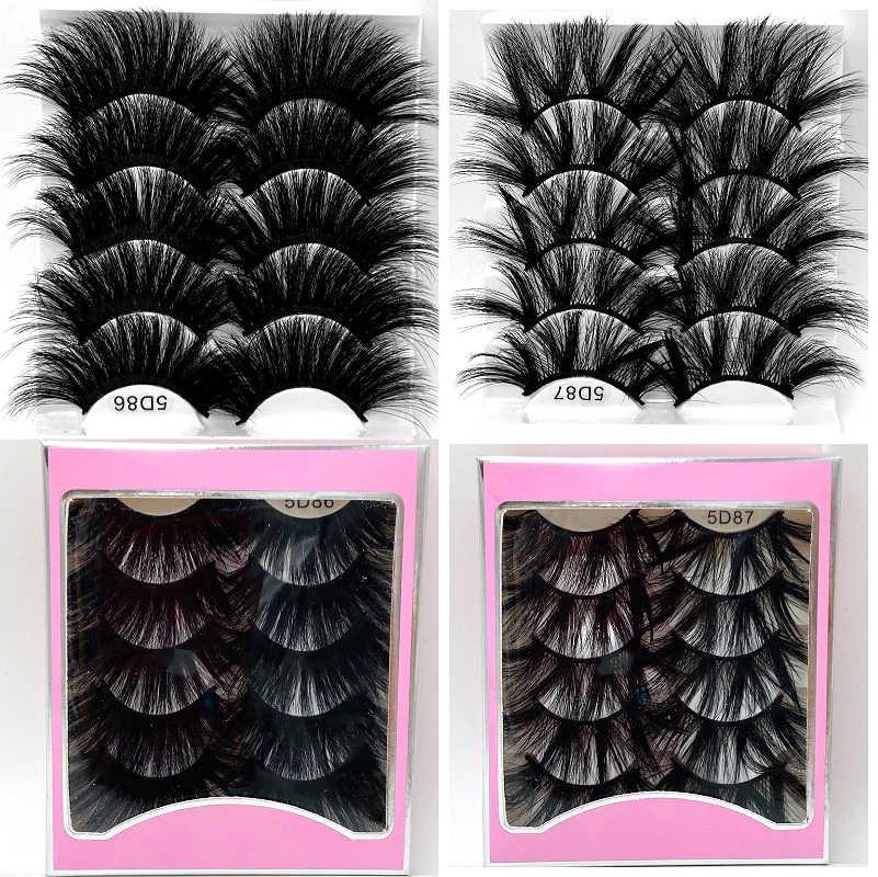 New 5pair Fluffy Lashes 25mm 3d Mink Lashes Long Thick Natural False Eyelashes Lashes Vendors Makeup Mink Eyelashes False Eyelashes Aliexpress