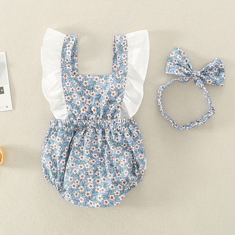 Yg brand children's clothing summer baby's clothes with floral and color matching baby's clothes with cotton bag