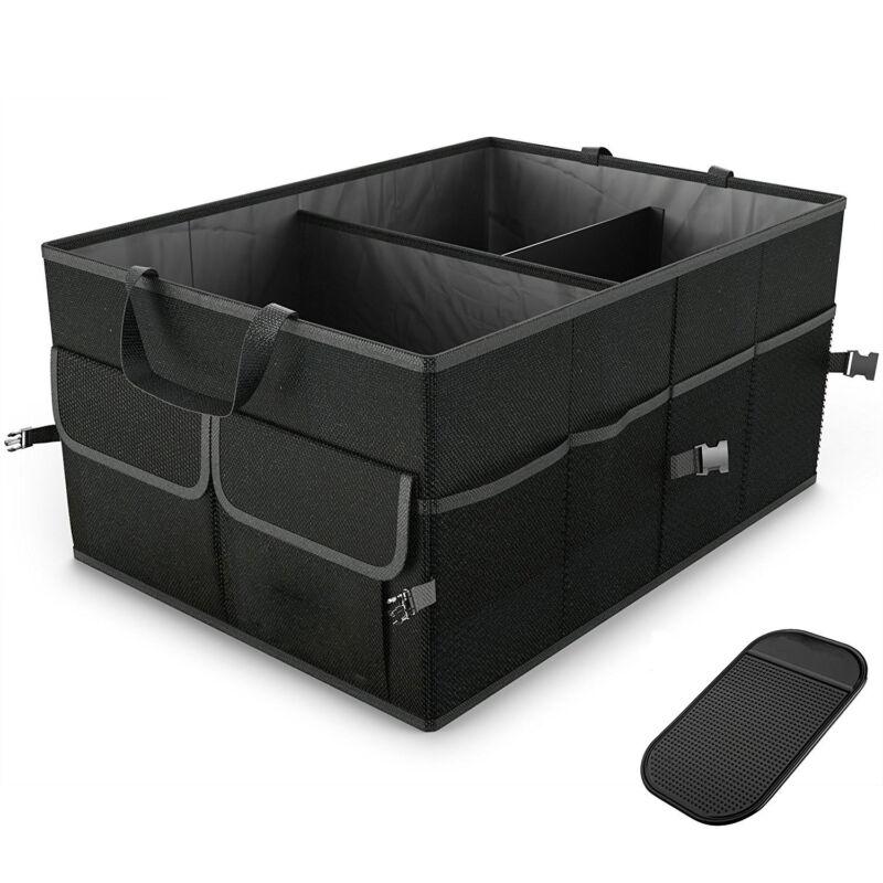 Новейший черный грузовой Органайзер, складной контейнер для хранения Кадди, корзина для автомобиля, грузовика, внедорожника, полезная коро...