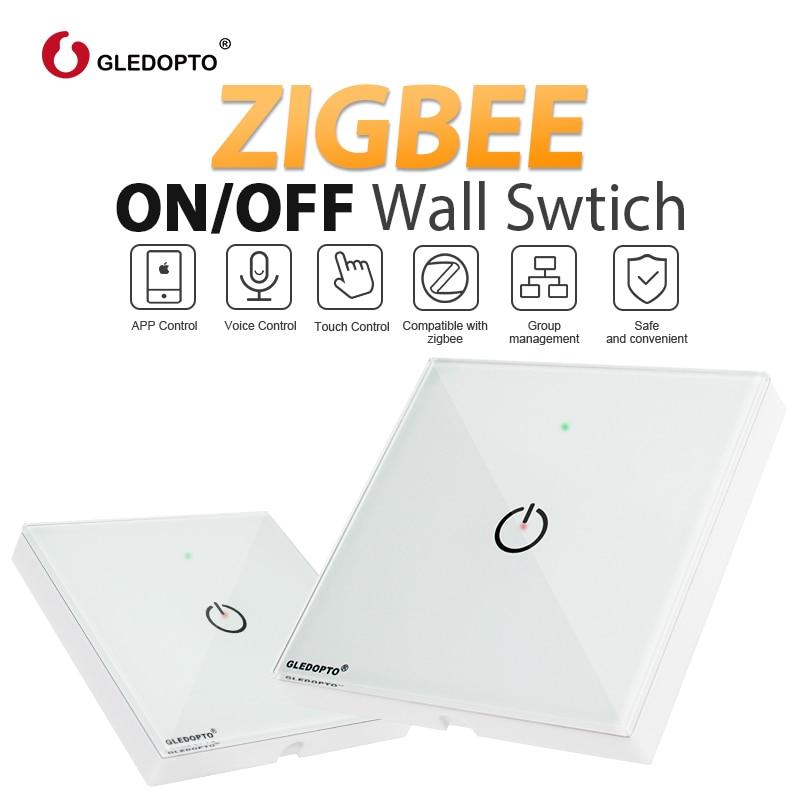 ZIGBEE interruptor de pared AC100-240V bombilla dimmer zigbee led Control remoto de luz inteligente trabajo con zigbee APP gateway samrt control de teléfono