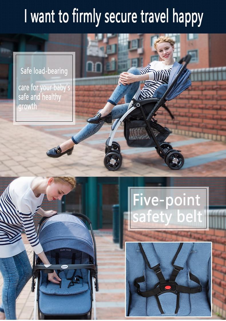 2021 New upgrade baby stroller stroller baby stroller foldable light available in all seasons high landscape enlarge