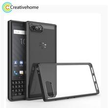 Para BlackBerry KEY2 TPU a prueba de arañazos + funda protectora acrílica