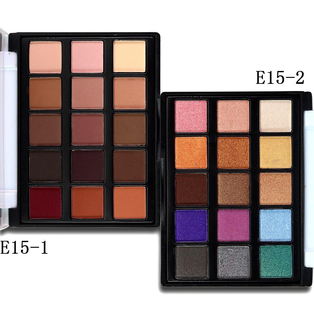 Paleta de sombras de ojos, 15 colores, brillo luminoso, Natural, fácil de poner, resistente al agua, maquillaje
