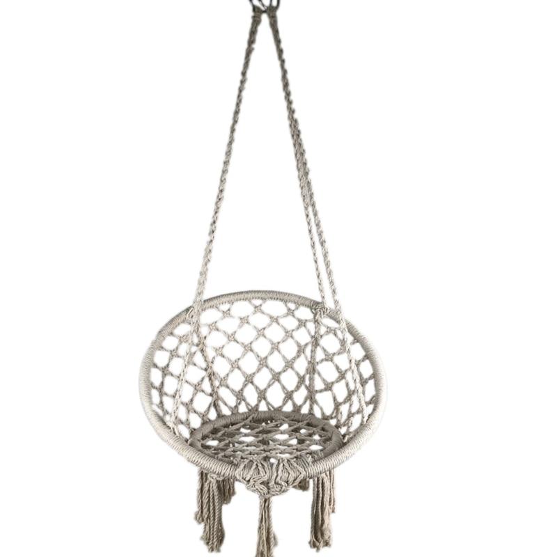Ручной работы богемный шикарный уличный гамак, макраме, качающийся хлопковый веревочный подвесной стул, кресло-качалка, детская колыбель, к...