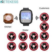 retekess wireless calling system waiter pagertd106 waterproof watch receiver10pcs t010 four key buttons restaurant cafe
