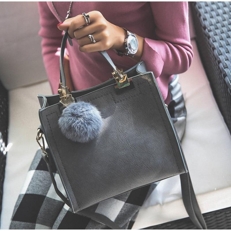 Matte Leather Hangbags Purse Luxury Designer For Women New 2020 Trend Women's Retro Shoulder Bag Femal Travel Crossbody Tote Bag