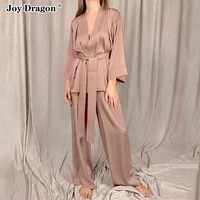 pajamas for women suit female pantsuits two piece sets solid color underwear sleepwear home service loose clothes casual suits