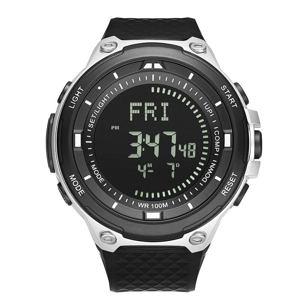 Reloj Digital deportivo para hombre, resistente al agua, barómetro, altímetro, termómetro, cronómetro,...