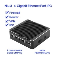 niu 3 gigabit multi port ipc mini pc firewall vpn router 4 intel gigabit lan 6usb 1com 1hdmi
