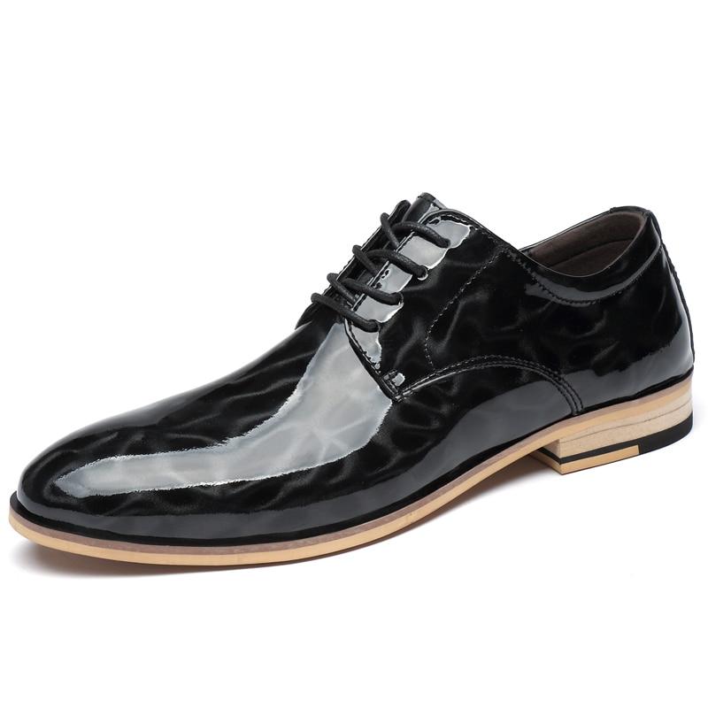 Фото - Модные свадебные туфли; Мужские модельные туфли; официальная обувь из натуральной кожи; мужские деловые туфли-оксфорды; кожаные туфли; боль... carlabei туфли carlabei ha833 121 q466