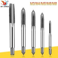 5 pièces Hss Machine filetage prise métrique robinet vis robinets 3mm 4mm 5mm 6mm 8mm Kit de jeu de M3-M8 filetage perceuse M3 M4 M5 M6 M8