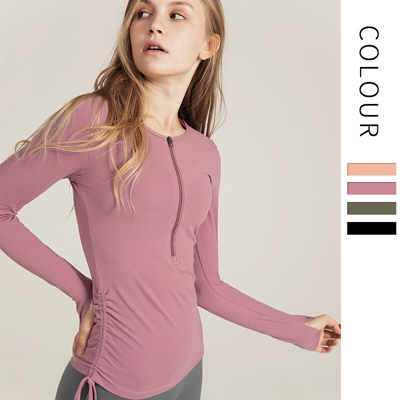 Yoga Coat Sport Top Fitness Clothing Sportwear Women Yoga Suit Runing Wear For Long Sleeve Gym Clothing