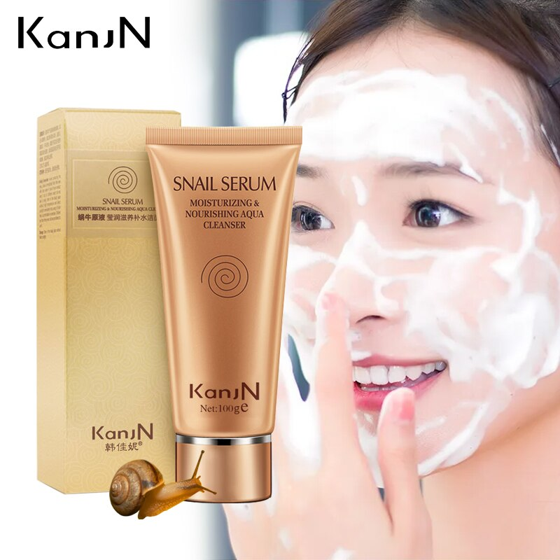 Snail Serum Moisturizing Nourishing Cleanser Facial Oil Control Pore Cleanser Face Washing Product Anti Aging Wrinkle Care 100g