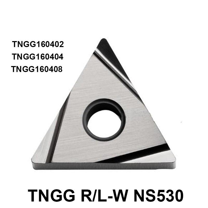 الأصلي TNGG160402 TNGG160404 TNGG160408 R-W L-W NS530 TNGG160408R TNGG160404L كربيد آلة خرط تعمل بالتحكم الرقمي بواسطة الحاسوب أدوات القاطع
