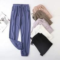 fdfklak cotton linen pajama pants women nightwear spring autumn loose sleepwear korean lounge wear home trousers pijamas